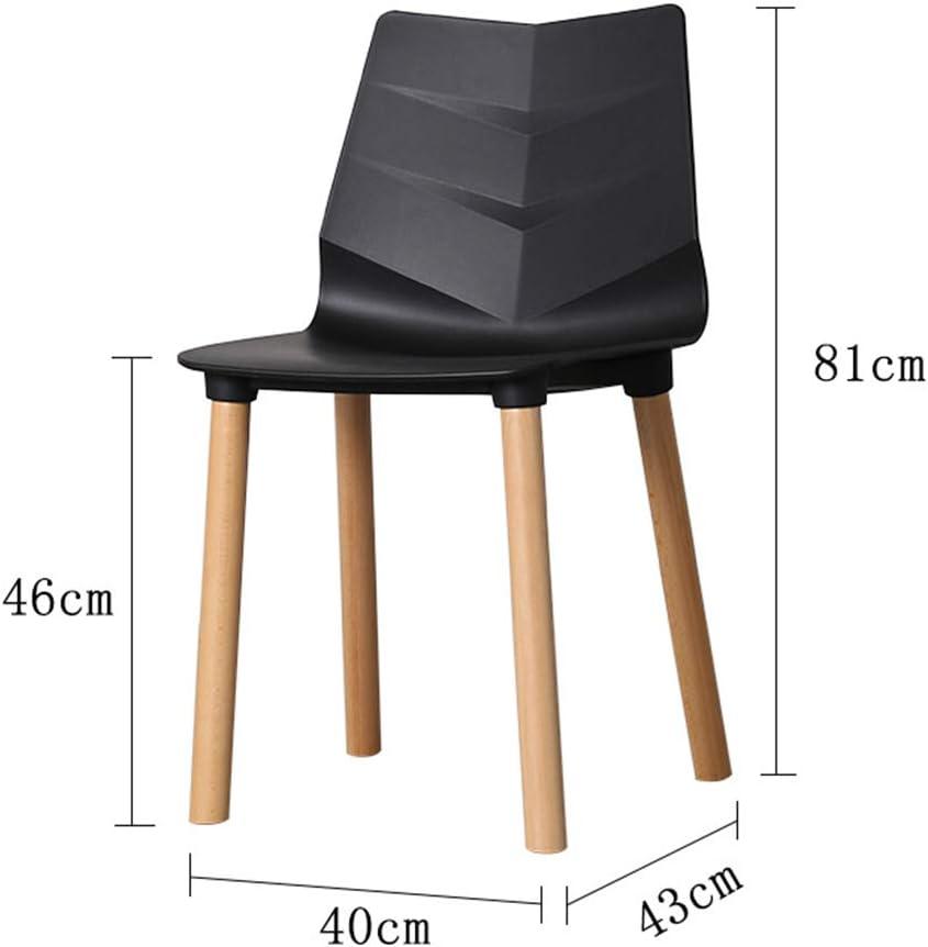 Chaise de Salle à Manger Chaise de bar nordique Chaise de salle à manger en bois massif (Color : White) White