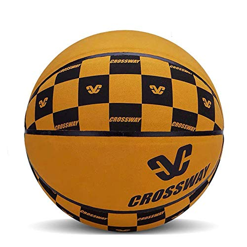 Buy SSLLPPAA Youth No. 7 Basketball Suede Basketball Adult Game Basketball Golden Yellow [Send Acces...