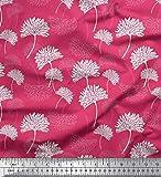 Soimoi Rosa Samt Stoff Blume kunstlerisch Stoff Meterware