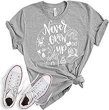 Never Grow Up Shirt | Women's Shirt | Unisex Shirt | Cute Shirt for Vacation (Medium, Heather Grey)