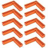 Blocco posizionatore ad angolo retto da 90 gradi, realizzato in plastica di alta qualità, piccolo e leggero, elevata durezza, resistenza alla caduta