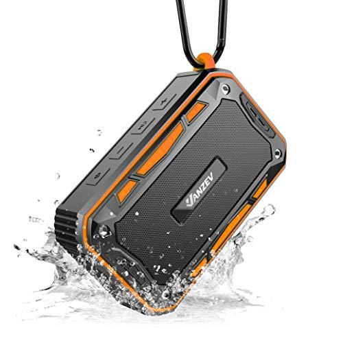 VANZEV Tragbare Bluetooth Lautsprecher Boxen mit FM Radio eingebautem Mikrofon IPX7 Wasserdicht, Top für Fahrrad-Fahren Party Strand Reise PC Outdoor Dusche iPhone Samusng, Orange