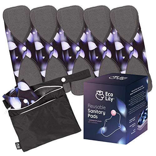 puissant 6 serviettes hygiéniques réutilisables d'Ecolyry |  Lavable, imperméable et…