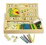 Montessori matemáticas Juguete de Madera Digital de Dibujo de Aprendizaje Caja...