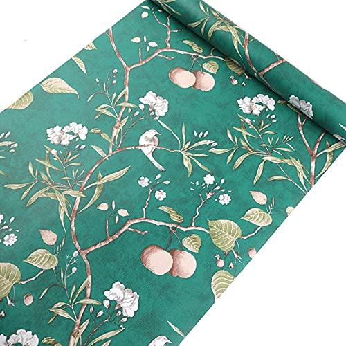 Papel Pintado De Flores De Manzano Viejo Para Estilo Vintage Dormitorio De Hotel Sala De Estar Pared Ventana 5,3 M²-Verde