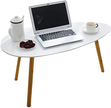 Laptop Table Side Table Desk End Bedside Coffee Table Side Tables Laptop Table Drop-Leaf Table Nesting End Tables Coffee Table FENPING (Color : White, Size : 9045.545.5)
