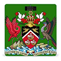 Coat of Arms of Trinidad And Tobago 体重計 デジタル 電子スケール ヘルスメーター 電源自動ON/OFF バックライト付き 高精度ボディースケール コンパクト 電池式 薄型 収納便利 体重管理