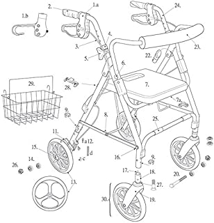 Replacement Parts for Models 795 - Drive Duet Rollator/Transport Chair (Rear Wheel)