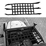 Micephon Cargo Net Rear and Top for Jeep Wrangler JK 2007-2016, TJ 1997-2006,Storage Roll Cage for Passengers&Pets