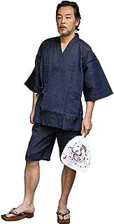 [ 京都きもの町 ] 男甚平 メンズ 楊柳 綿麻甚平 全3色 S・M・L・LL 4サイズ