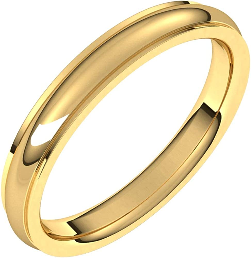 14k Shipping included Yellow Gold Shipping included 3mm Comfort Fit Wedding Band S Bridal Edge Ring