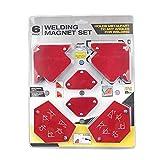 Montloxs Posizionatore Triangolazione per Saldatura Magnetica 6PCS Senza Interruttore Accessori per Saldatura Multi Specifica