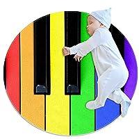エリアラグ軽量 音楽と喜び フロアマットソフトカーペット直径39.4インチホームリビングダイニングルームベッドルーム