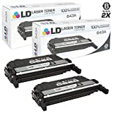 LD Compatible Toner Cartridge Replacements for HP 643A Q5950A (Black, 2-Pack)