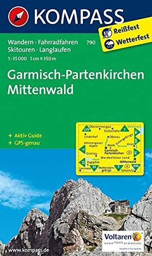 Garmisch-Partenkirchen - Mittenwald: Wanderkarte mit Aktiv Guide, Radrouten, Skitouren und Loipen. GPS-genau. 1:35000: Wandelkaart 1:35 000 (KOMPASS-Wanderkarten, Band 790)