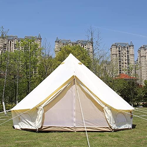 MWKL Yurt Tents Bell Tent Oxford Cloth Carpa Impermeable de 4 Estaciones Carpa...