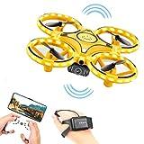 MeiLiu Mini Drone, Quadcopter avec caméra HD, capteur G, Flip 360 °, contrôle gestuel, Maintien de laltitude, lumières LED, Avion télécommandé pour Enfants et Adultes