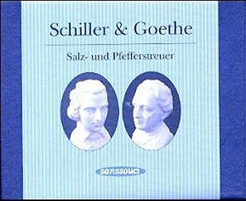 Schiller & Goethe zerstreut. Salz- und Pfefferstreuer im edlen Geschenkkarton
