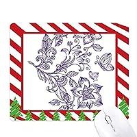 ライラック色の装飾的な古典的なパターン ゴムクリスマスキャンディマウスパッド