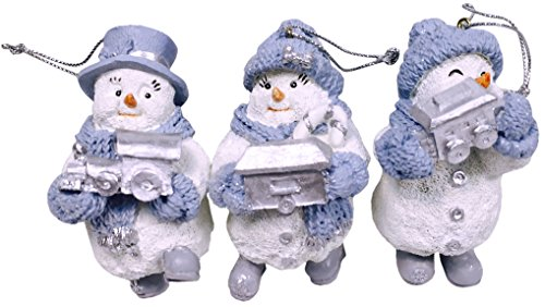 Snow Buddies Flurry Train Engine, Blizzy Boxcar, Powder Caboose - Set of 3 Hanging Ornaments