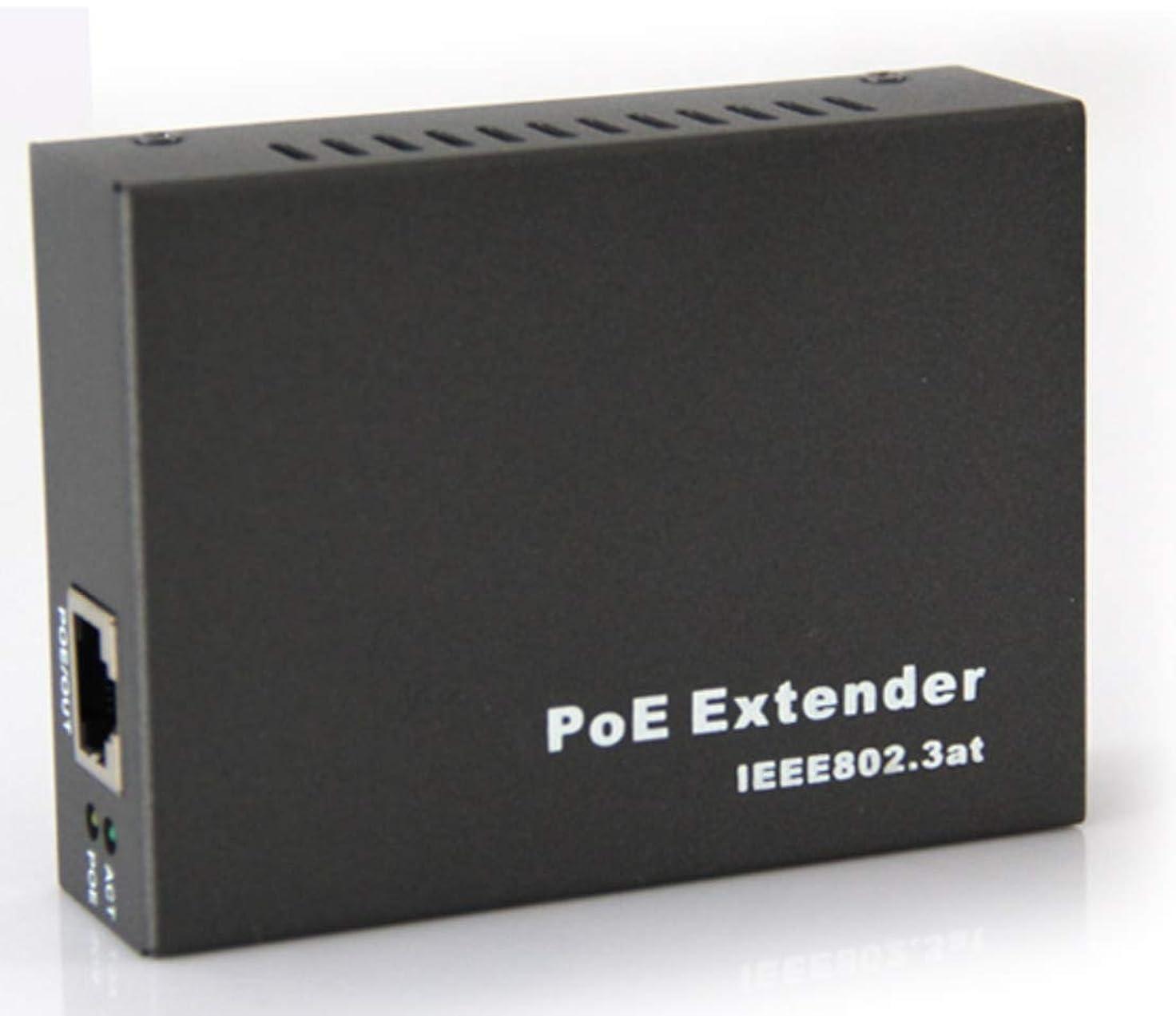筋独立してインレイPE2301 シングルポート 10/100Mbps POE+ エクステンダー - 330フィート (100m) - 802.3af/at 5.2 * 4.3 * 2.2 in