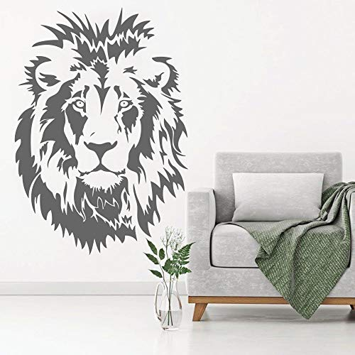 yaonuli Leeuw hoofd kind muur sticker vinyl muur sticker dierlijke decoratie jongen slaapkamer woonkamer kantoor huis decoratie