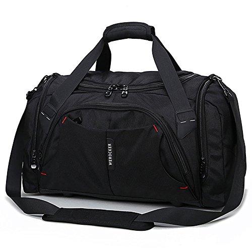 Handtas met hoge capaciteit, voor mannen, zakelijke sporttas, nylon, zwart, sporttas voor mannen en vrouwen