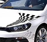 Autoaufkleber Rallye Fahne Flag Zielflagge Tribal Schwarz KLEIN