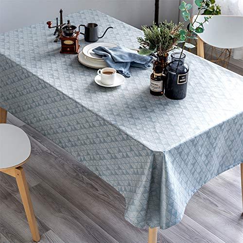 Rechthoekig tafelkleed, waterdicht, oliebestendig en hotproof tafelkleed met TPU-coating, tafelkleed voor de keuken zonder te wassen,Blue,130 * 180cm