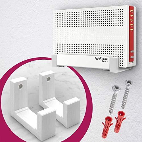 MOBILEFOX Router Wandhalterung Halter für AVM Fritzbox Model 6590 oder 6591