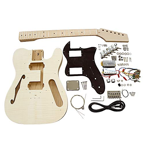 Juego de guitarras eléctricas TLFFB semi huecas de arce fla