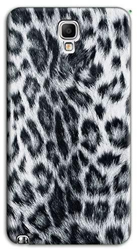 Mixroom - Cover Custodia Case in TPU Silicone Morbida per Samsung Galaxy Note 3 III Neo N7505 M756 Leopardato Bianco E Nero