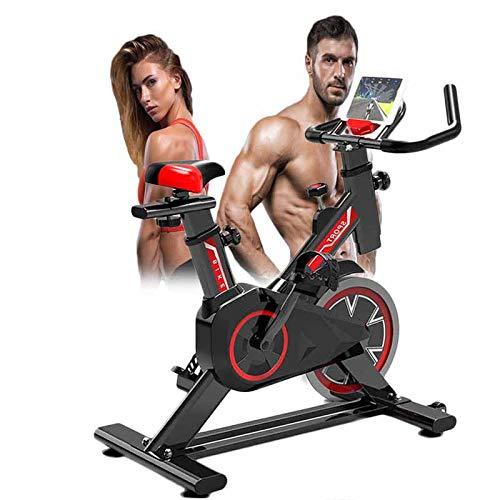 Excersize Cyclette, Spin Indoor Sunny Health & Fitness Bicicletta Da Ciclismo Con Sensori Palmari, Dispositivo Di Allenamento Gambe Aerobico Con Supporto Per Tablet Per Anziani E Allenamento Cardio