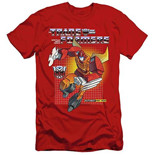 Transformers Slim Fit T-Shirt Hot Rod Red Tee, XL