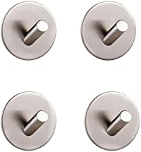 YWH-WH Key Cloth Hook 4pcs Bathroom Kitchen Self Adhesive Stainless Steel Brushed Hook Towel And Robe Hooks Vintage Design