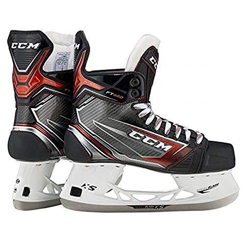 CCM Unisex Jetspeed FT460 Sr Ice Hockey Skates, Adult, Black, 10 D US