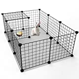 JYYG Small Pet Pen Bunny Cage Dogs Playpen Indoor Out Door Animal Fence Puppy Guinea Pigs, Dwarf Rabbits PET-F...