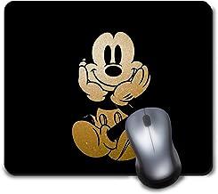 Memory Shop Alfombrilla de ratón Disney Mickey Mouse Fondo Negro Alfombrilla Antideslizante Goma Alfombrilla Linda Divertida para Juegos y Regalos