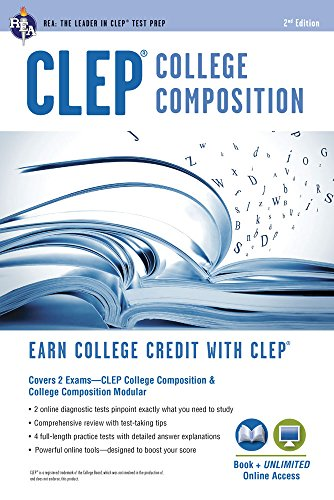 Compare Textbook Prices for CLEP® College Composition 2nd Ed.,  Book + Online CLEP Test Preparation Second Edition, Revised Edition ISBN 9780738611334 by Smith, Rachelle,Marulllo, Dominic,Springer, Ken