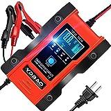 バッテリー 充電器 カーバッテリー バッテリーチャージャー 12/24V 6A大電流 リチウム電池適用 電動自転車 コネクタ付 過電流保護 自動車 バイク用