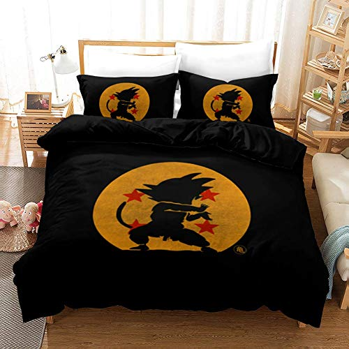 299 Duvet Cover Sets 3D Dragon Ball Printing Child Adult Bedding Set 100% Polyester Gift Duvet Cover 3 Pieces With 2 Pillowcases I-US Queen(228×228) cm
