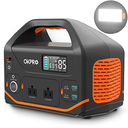 OKPRO ポータブル電源 大容量 500W 150000mAh/555Wh 家庭アウトドア両用蓄電池 PSE認証済み 純正弦波 液晶...