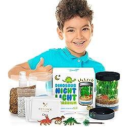 5. Uptown Farmer Kids Dinosaur Terrarium Kit for Kids