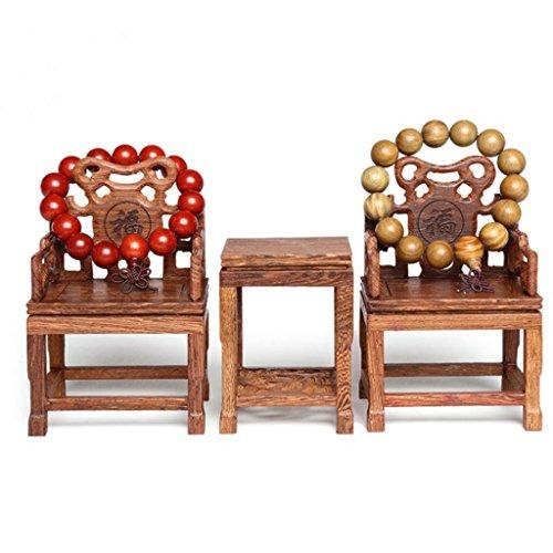 Preisvergleich Produktbild KINLANG Antiker Schmuckständer,  chinesische Schmuckständer,  Holzschnitzereien,  Tisch und Stühle,  3 Stück,  Holz,  Blessed Word