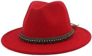 XinLin Du 2019 Fashion Women Men Fedora Hat With Belt Wide Brim Hat Pop Panama Hat Size 56-58CM