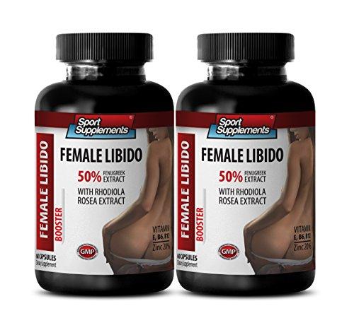 Female Sexual Wellness - Female LIBIDO Booster - Dietary Supplement - tongkat ali and Fenugreek - 2 Bottles 120 Capsules