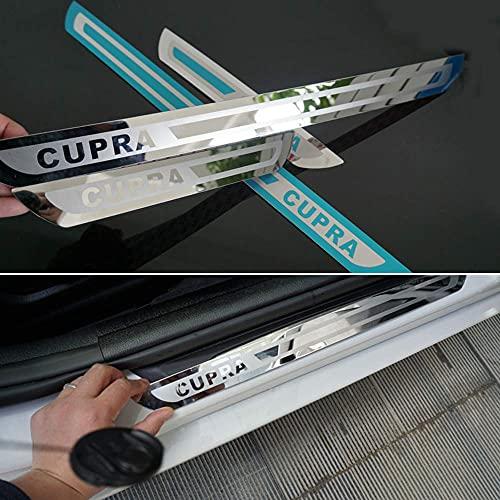 TIANP Adhesivo decorativo para el umbral de la puerta del coche, accesorio para el coche, para Leon Cupra Mk2 Mk3 Fr St 2010 2011 2012 2013 2014 2015 2016 2017 2018