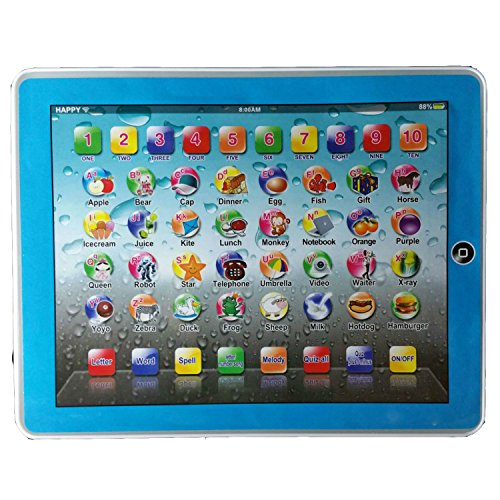 My First Tablet Kids Childrens Laptop Touch Type Learning Computer Educational Toy Game (Blue)