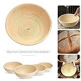 Bread Baskets Ronda de Pan de corrección de la Cesta Demostrando la Cesta de ratán Natural de Masa fermentada...