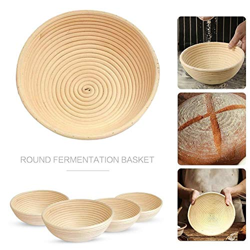 Round Bread Proofing Basket Proving Basket Natural Rattan Sourdough Proving Basket for Home Bakers (Size : L 22X8.5CM)